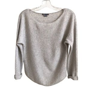 VINCE Cropped Sweater Light Grey - Size Small